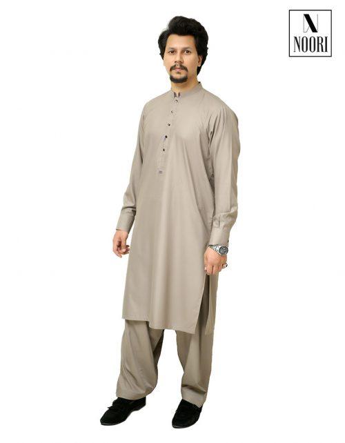 Unstitched Grey Kameez Shalwar