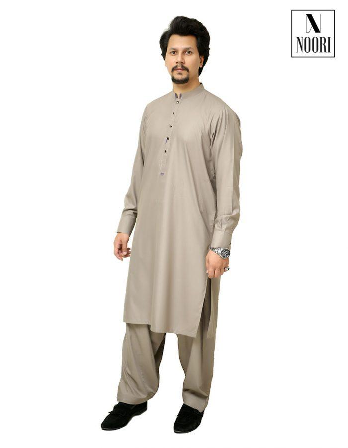 Grey Kameez Shalwar -Wash and Wear