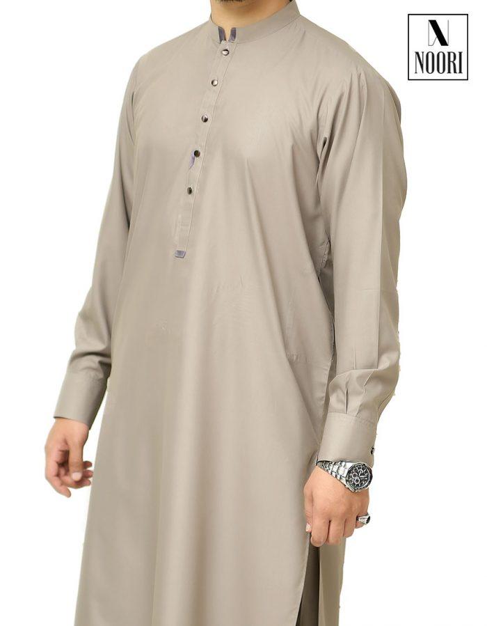 Grey Shalwar Kameez-Wash and Wear