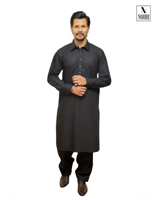 Cotton Black Kameez Shalwar