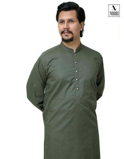 Kurta Shalwar Olive Green