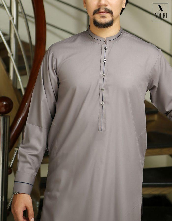 Pearl Grey Shalwar Kameez