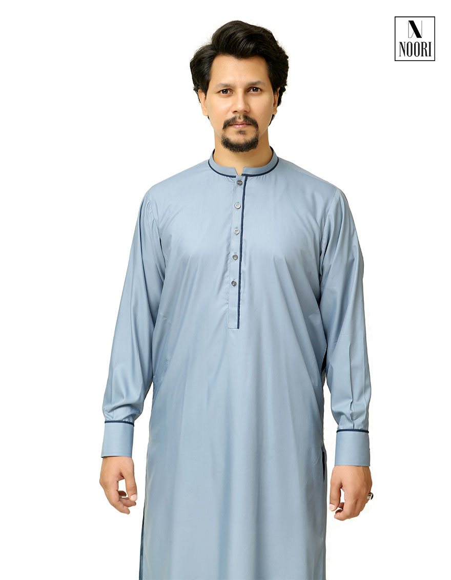 Steel Blue Shalwar Kameez