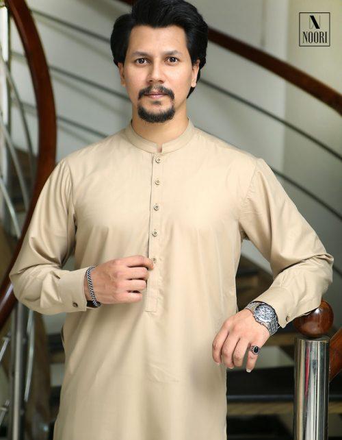 Light Brown Kameez Shalwar Wash and Wear