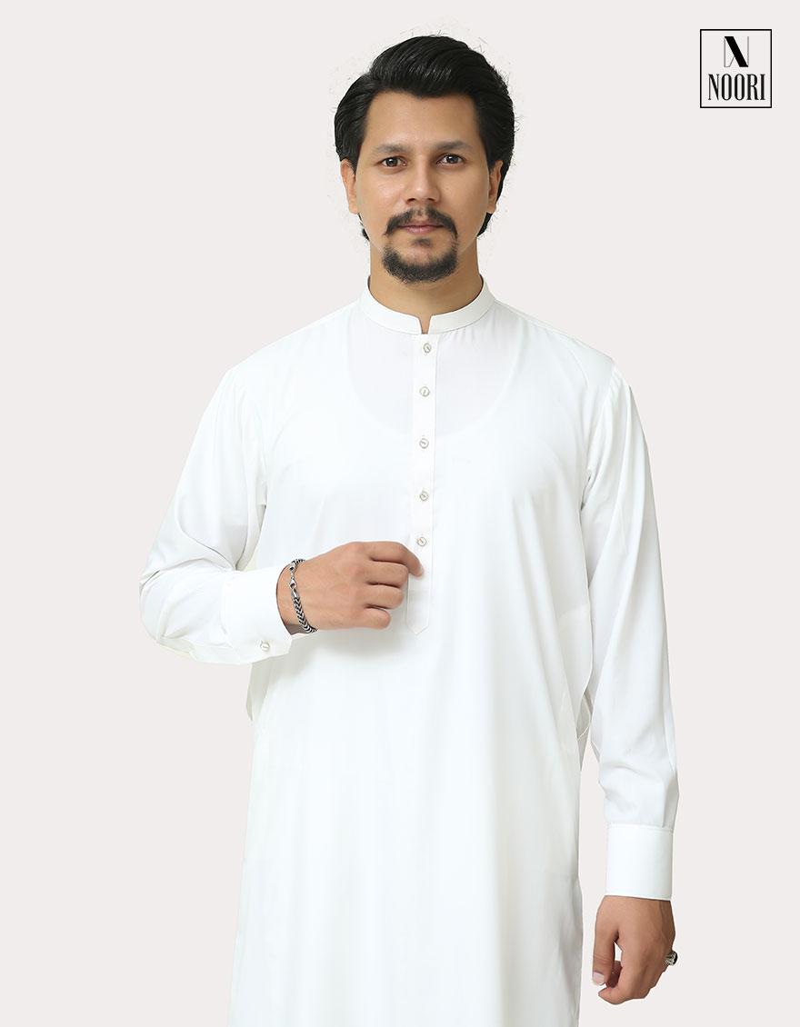White Shalwar Kameez Wash and Wear