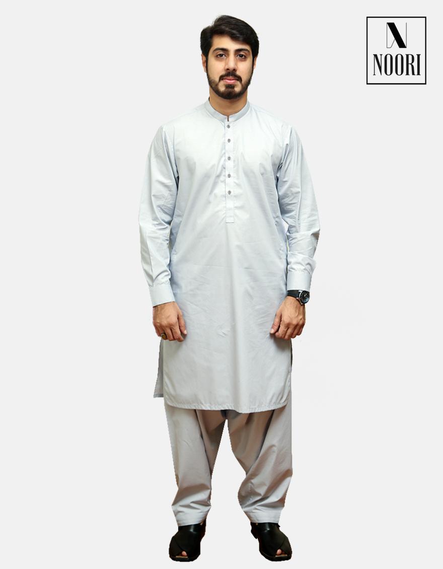 Cotton Smoke Grey Kameez Shalwar