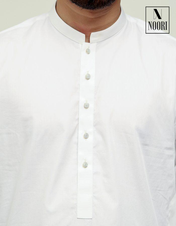 Cotton White Kameez Shalwar