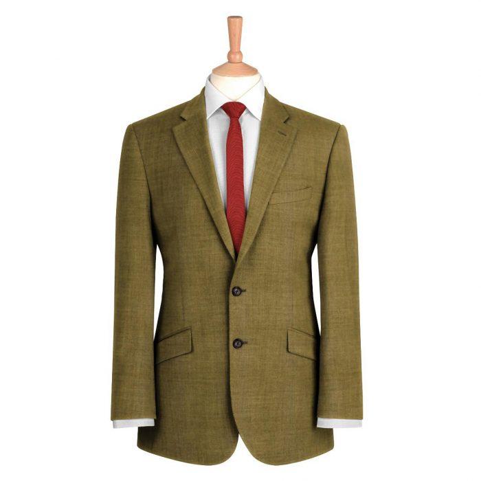 Olive Plain Suit